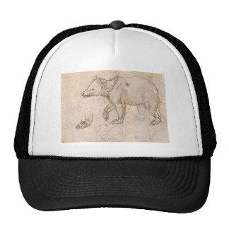 Studies of a BeWalking by Leonardo da Vinci Trucker Hat