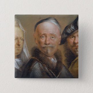 Studies of Five Heads after Rembrandt (pastel on c Button