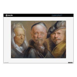 Studies of Five Heads after Rembrandt (pastel on c Skin For Laptop