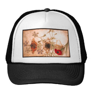 Studies of Flowers and Butterflies Trucker Hat
