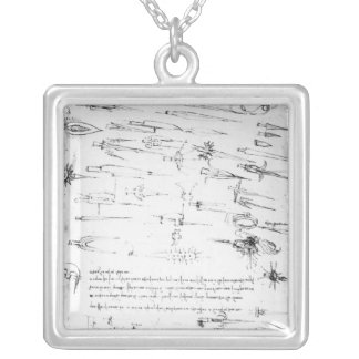 Studies of foot soldiers and horsemen in silver plated necklace
