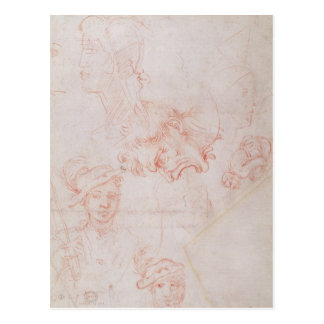 Studies of heads, 1508-12d postcard