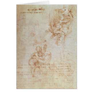 Studies of Madonna and Child Card