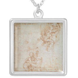 Studies of Madonna and Child Square Pendant Necklace