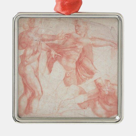 Studies of Male Nudes Metal Ornament