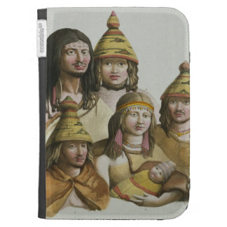 Studies of native Americans (colour litho) Cases For The Kindle