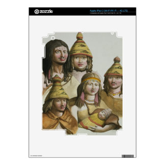 Studies of native Americans (colour litho) Decal For iPad 3