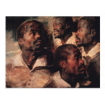 Studies of the Head of a Negro Postcard