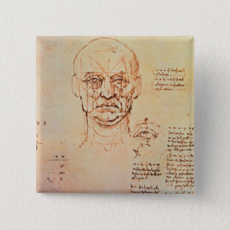 Studies of the Proportions of the Face and Eye, 14 Pinback Button