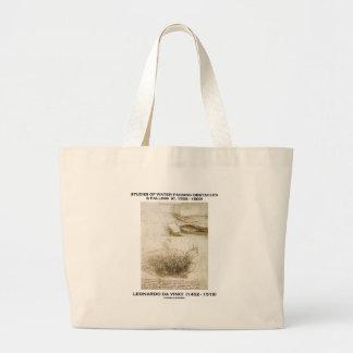 Studies Water Passing Obstacles Falling da Vinci Tote Bag