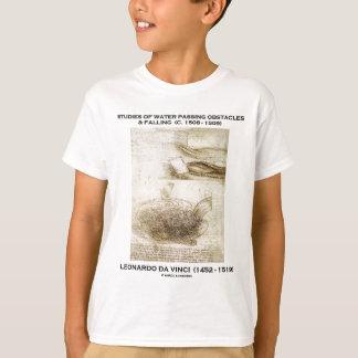 Studies Water Passing Obstacles Falling (da Vinci) T-Shirt
