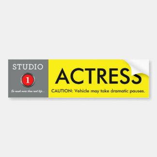 Studio 1 Actress Pauses Bumpersticker Car Bumper Sticker