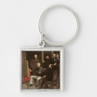 Studio at Batignolles, 1870 Keychain