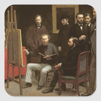 Studio at Batignolles, 1870 Square Sticker