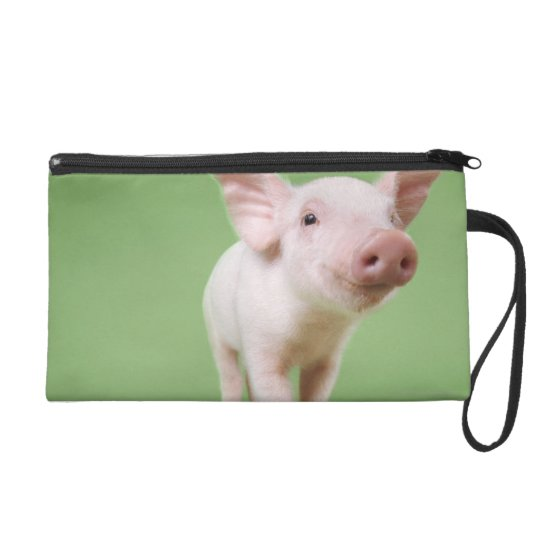 Studio Cut Out of a Piglet Standing Wristlet Purse