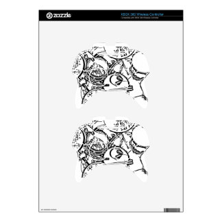 Studio Drums with Headphones and Sticks Xbox 360 Controller Decal