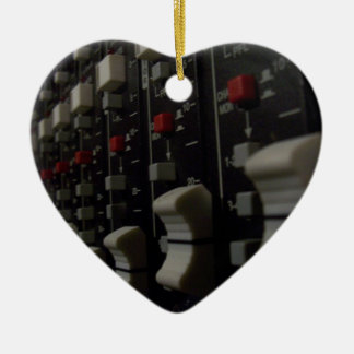 Studio Life Double-Sided Heart Ceramic Christmas Ornament
