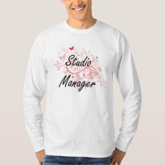 Studio Manager Artistic Job Design with Butterflie Tee Shirt