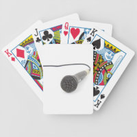 Studio Microphone Bicycle Playing Cards