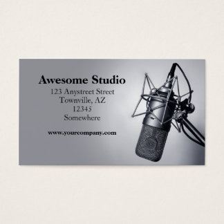studio microphone business card