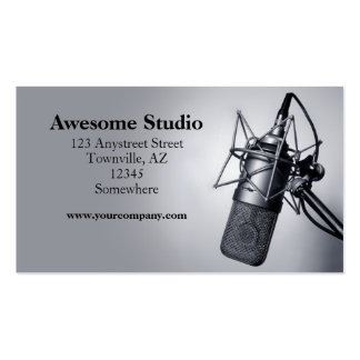 studio microphone Double-Sided standard business cards (Pack of 100)
