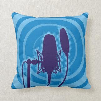 Studio Microphone Throw Pillow