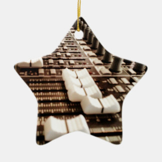 Studio Mixer Double-Sided Star Ceramic Christmas Ornament
