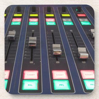 Studio Mixer Panel, Closeup Drink Coaster