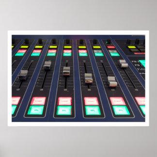 Studio Mixer Panel Closeup Print