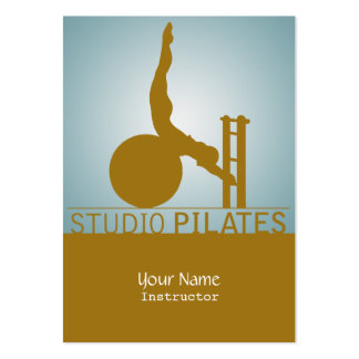 Studio Pilates - Business, Schedule Card Large Business Cards (Pack Of 100)