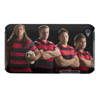 Studio portrait of male rugby team barely there iPod covers