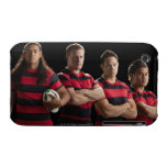 Studio portrait of male rugby team iPhone 3 cover
