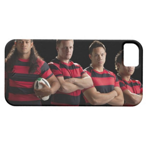 Studio portrait of male rugby team iPhone SE/5/5s case