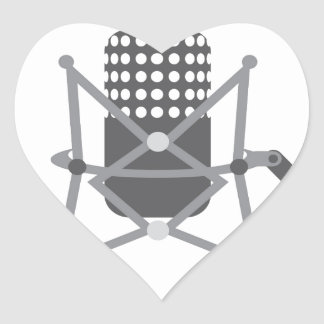Studio pro mic heart sticker