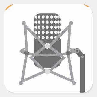 Studio pro mic square sticker