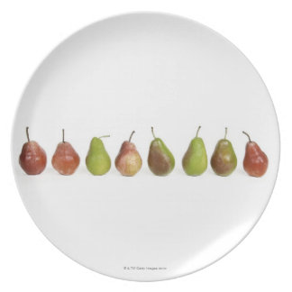studio shot, close up, healthy eating, in a row, plates