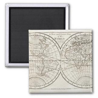 Studio shot of antique world map 3 magnet