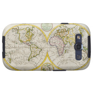 Studio shot of antique world map galaxy s3 cover