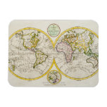 Studio shot of antique world map flexible magnets