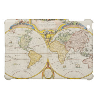 Studio shot of antique world map cover for the iPad mini