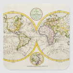 Studio shot of antique world map stickers