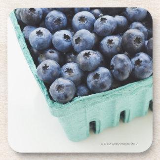 Studio shot of blueberries beverage coaster