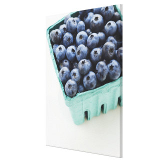 Studio shot of blueberries canvas print