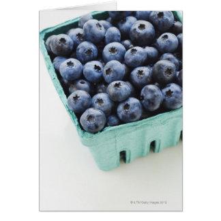 Studio shot of blueberries greeting card