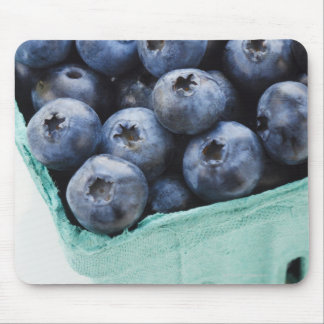 Studio shot of blueberries mouse pad