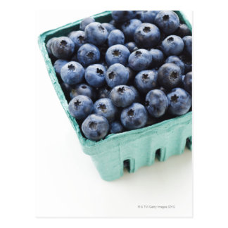 Studio shot of blueberries postcard