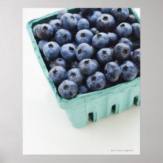 Studio shot of blueberries poster