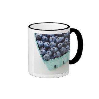 Studio shot of blueberries ringer mug