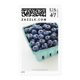 Studio shot of blueberries stamp