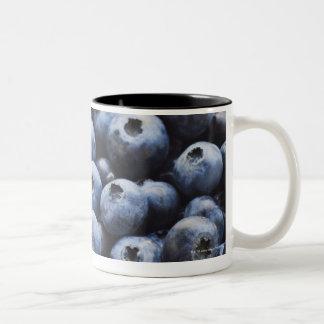Studio shot of blueberries Two-Tone coffee mug